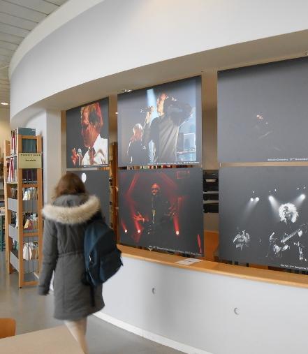 Photos d'une partie de l'exposition en cours à la bibliothèque de Musique de Rennes 2